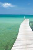 海滩寂寞码头海运视图 库存照片