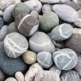 海滩小卵石关闭  库存照片