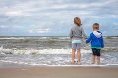 海滩小孩 库存照片