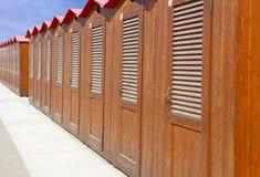 海滩小屋意大利 免版税库存照片