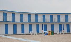海滩小屋晒干 库存照片