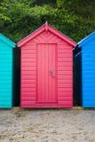 海滩小屋红色 库存图片