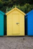 海滩小屋黄色 库存图片