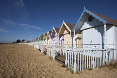 海滩小屋,西方Mersea, Essex,英国 免版税库存照片