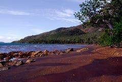 海滩小的硫代的村庄 免版税库存图片