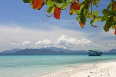海滩小船泰国 库存照片