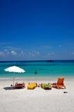 海滩小船泰国 图库摄影