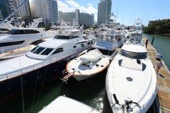 海滩小船迈阿密显示 库存照片
