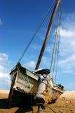 海滩小船 免版税图库摄影