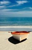 海滩小船 库存照片