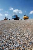 海滩小船hastings小卵石 图库摄影