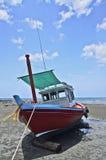 海滩小船huahin泰国 免版税库存照片