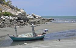 海滩小船huahin泰国 库存图片