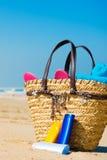海滩屏幕星期日 免版税库存照片