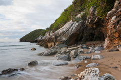 海滩山 免版税库存图片