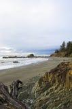 海滩岩石华盛顿 图库摄影