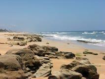 海滩岩石的佛罗里达 库存照片