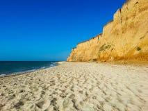 海滩峭壁 库存照片