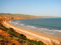 海滩峭壁sellicks 免版税图库摄影
