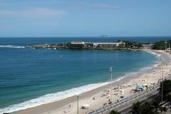 海滩巴西copacabana 库存照片