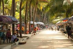 海滩市场 库存照片