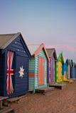 海滩布赖顿墨尔本 免版税库存照片