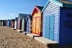 海滩布赖顿小屋 免版税库存图片