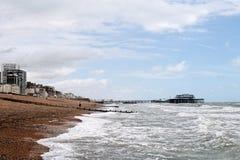 海滩布赖顿 库存照片