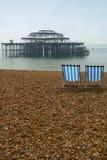 海滩布赖顿 免版税图库摄影