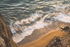 海滩布里坦尼 免版税库存照片