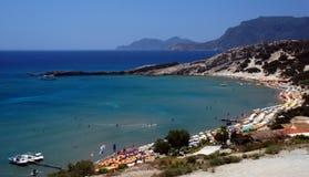 海滩希腊天堂 免版税库存照片
