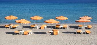 海滩希腊海岛kefalos kos 库存图片