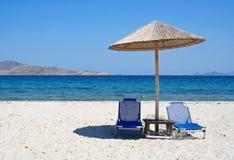 海滩希腊海岛kos 库存照片