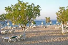 海滩希腊海岛kos tigaki 免版税库存图片