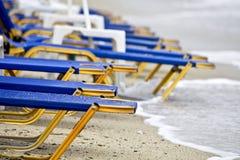 海滩希腊视图 库存照片
