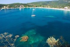 海滩希腊 免版税库存照片