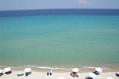 海滩希腊halkidiki 图库摄影