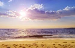 海滩希腊paradisos 图库摄影