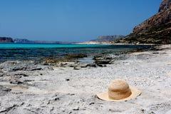 海滩帽子 库存图片