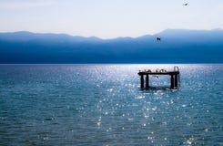 海滩平台 库存照片