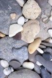 海滩平稳的石头 免版税图库摄影