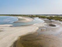 海滩开普角在冈比亚 免版税库存图片