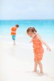海滩开玩笑二 图库摄影