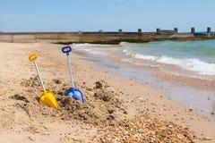 海滩开玩笑玩具 库存照片