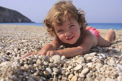 海滩微笑 免版税库存图片