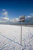 海滩意大利人冬天 免版税库存照片