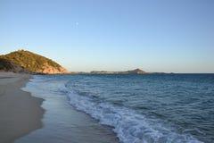 海滩意大利撒丁岛 免版税库存图片