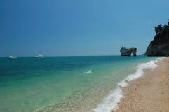 海滩意大利横向 免版税库存图片