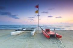 海滩意大利风景viareggio 免版税图库摄影