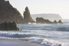 海滩意大利maiore里纳撒丁岛 免版税库存图片